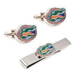 University of Florida Cufflinks and Tie Bar