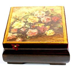 Victorian Jewelry Box with Flowers