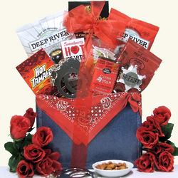 Wild West Hot & Spicy Valentine's Day Gourmet Gift Basket