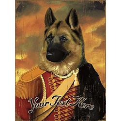 Personalized Vintage German Shepherd Wooden Plaque