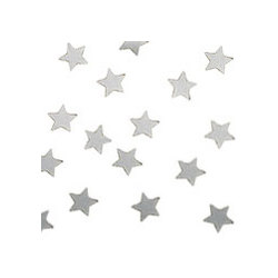 Silver Metallic Stars Confetti