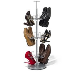 Space Saving 18 Pair Shoe Rack