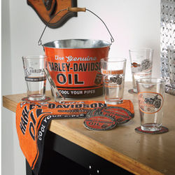 Harley-Davidson Oil Can Pint Glass Gift Set