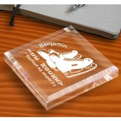Personalized Ice Hockey Paperweight