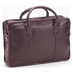 Top Handle Leather Briefcase