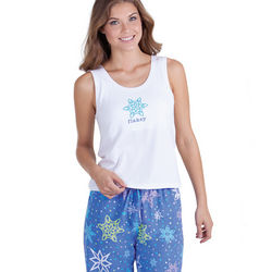 Flakey Tank and Pants Pajamas Set