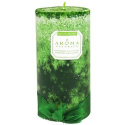 Juniper, Spruce & Basil Evergreen Holiday Pillar Candle