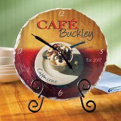 Cappuccino Personalized Slate Clock