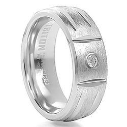 Triton Tungsten Carbide and Diamond Wedding Band