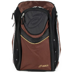 Brown and Black Tennis Backpack