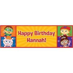 Super Why! Happy Birthday Banner