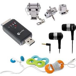 Brainiac Charge & Sync Flash Drive, Headset TuneTies & Splitter