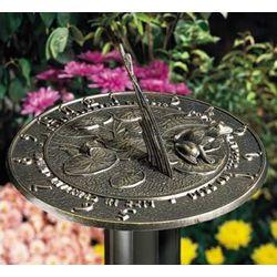 Cast Aluminum Frog Sundial