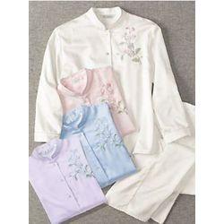 Women's Brushed Back Satin Pajamas
