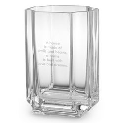 Personalized Architectural Cut Vase