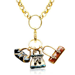 Purse Lover's Gold-Tone Charm Necklace