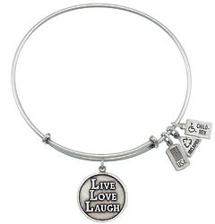 Live, Love, Laugh Charm Bangle Bracelet