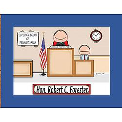 Personalized Judge Cartoon Print