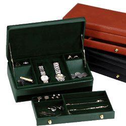 Men's Leather Watch & Jewelry Box