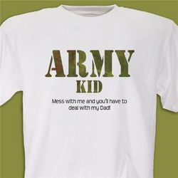 Personalized Army Military T-Shirt