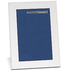 "Engraved 4"" x 6"" Engraved Matte Silver Photo Frame"