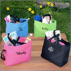Monogram Bridesmaid Tote Bag