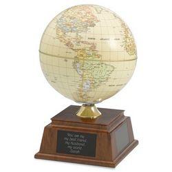 Beige Solar Rotating Globe