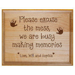 Engraved Family Memories Wooden Plaque