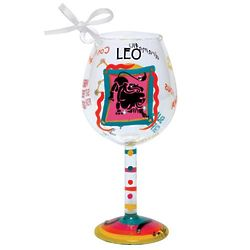 Leo Mini Wine Glass Ornament