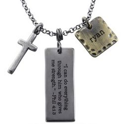 Cross Dogtag Style Pendant