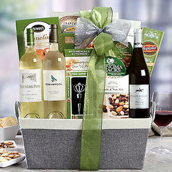 California White Wine Trio Gift Basket