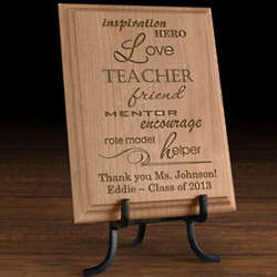 Personalized Teacher and Mentor Wooden Plaque
