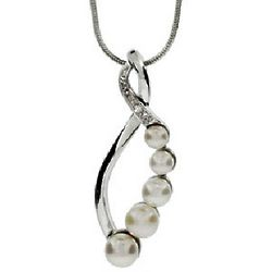 Infinity Freshwater Pearl Journey Necklace