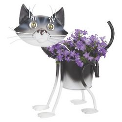 Kate the Black and White Painted Kitty Planter