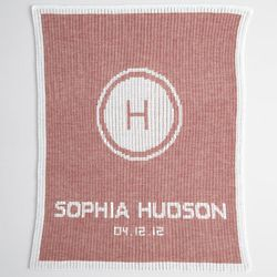 Personalized Pink Stroller Blanket
