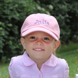 Toddlers Personalized Pink Baseball Cap