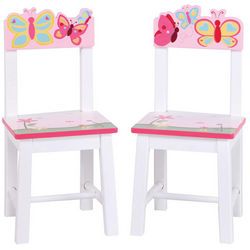2 Butterfly Buddies Kid's Chairs