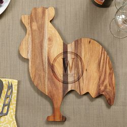 Banty Rooster Personalized Circle Cheese Board