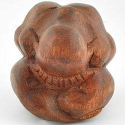 Weeping Wooden Yogi Sculpture