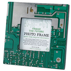 Square Recycled Motherboard Picture Frame