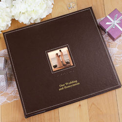 Leather Personalized Wedding Photo Album