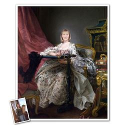 Classic Painting Madame Pompadour at Work Personalized Art Print