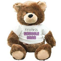 Personalized Snuggle Bear Stuffed Animal
