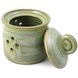 Handcrafted Stoneware Pottery Garlic Jar
