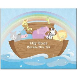 Personalized TwinkleBright LED Noah's Ark 11x14 Canvas Print