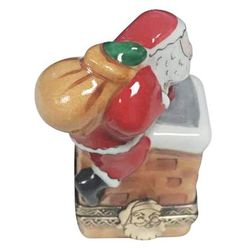 Santa Claus on Roof Limoges Box