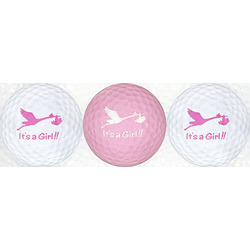 It's A Girl Golf Ball Set