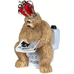 Personalized Daddy Bear on Throne Keepsake
