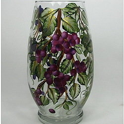 Hand Painted Grapevine Hurricane Candle Holder