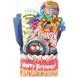 Happy Birthday Gift Basket with Selected Book